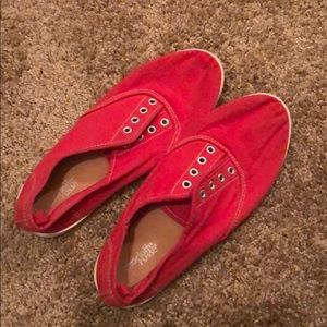 Red Flat Sneaker Shoes